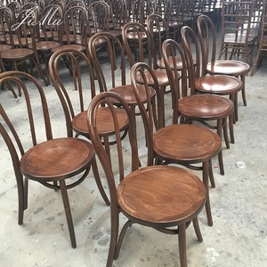 Antique Vintage Bentwood French Style Banquet Living Room Solid Wooden Dining Thonet Chair For Wedding Reception