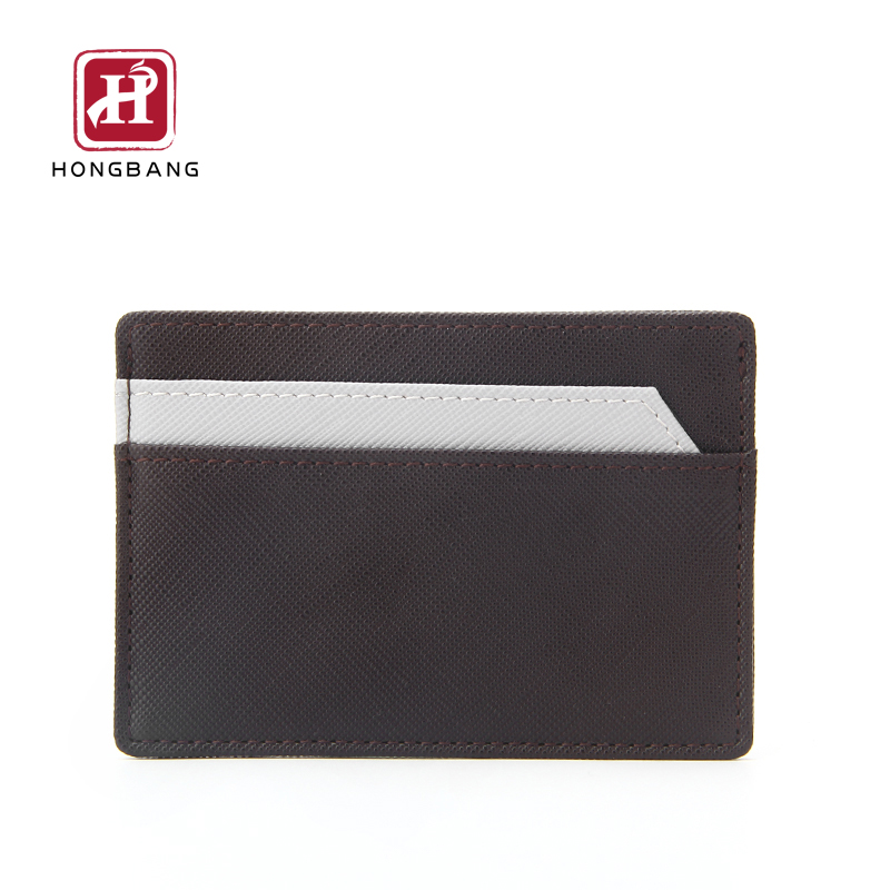 Держатель кредитной карты Saffiano PU RFID Тонкий ID держатель карты бумажник