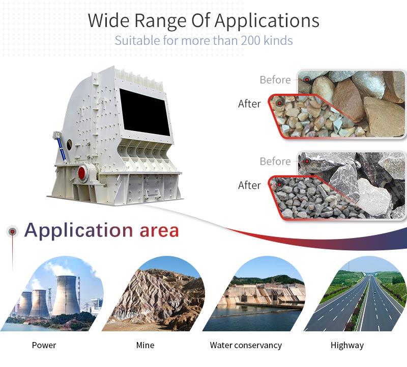 China  professional Directly Supply PF series impact crusher used to talc /coal/gypsum/dolomite crushing plant
