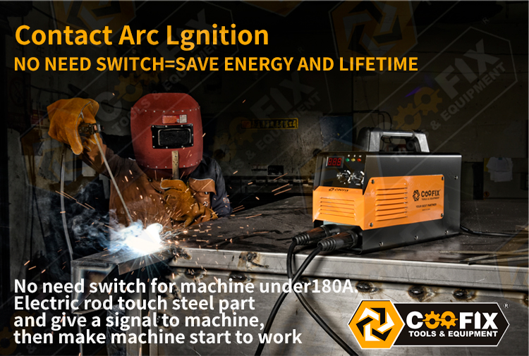 Coofix MINI MIG/MMA/TIG/Arc Igbt Inverter 160/180/200/220/250/300A Esab Ac Dc Copper Wire Welding Machine For Weld