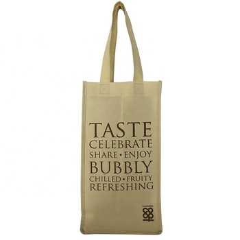 Wine /  Vinegar Four Bottle Recycled Grocery Tote Bags Non Woven gift bag