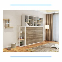 Horizontal wall mounted murphy wall bed mechanism space saving home furniture use sofa with adjustable