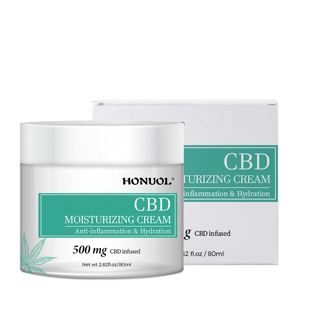 Private Label OEM Hemp Skin Care Product Deep Hydration And Nourishing 500MG Hemp CBD Skin Whitening Face <strong>Cream</strong>