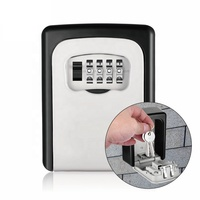 Wall Mount 4 Digit Key Storage Box Cabinet Security Safes Combination Heavy Lock