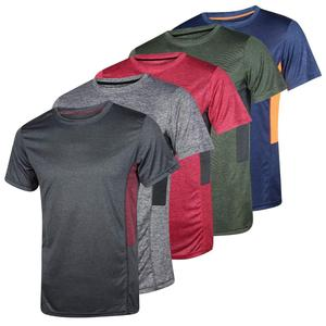 Mens Dry-Fit Moisture Wicking Active Athletic Performance Blank T shirt China Wholesale Slim Fit T Shirt for Men