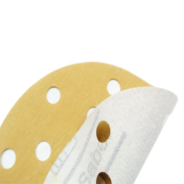 SATC 150mm Gold Hook and Loop Aluminum Oxide Sanding Disc for Steel Polishing, 120Grit