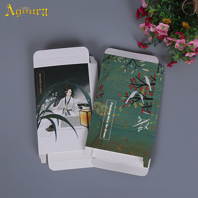 Customized paperboard color printing boxes creative cosmetic case packaging face mask packaging