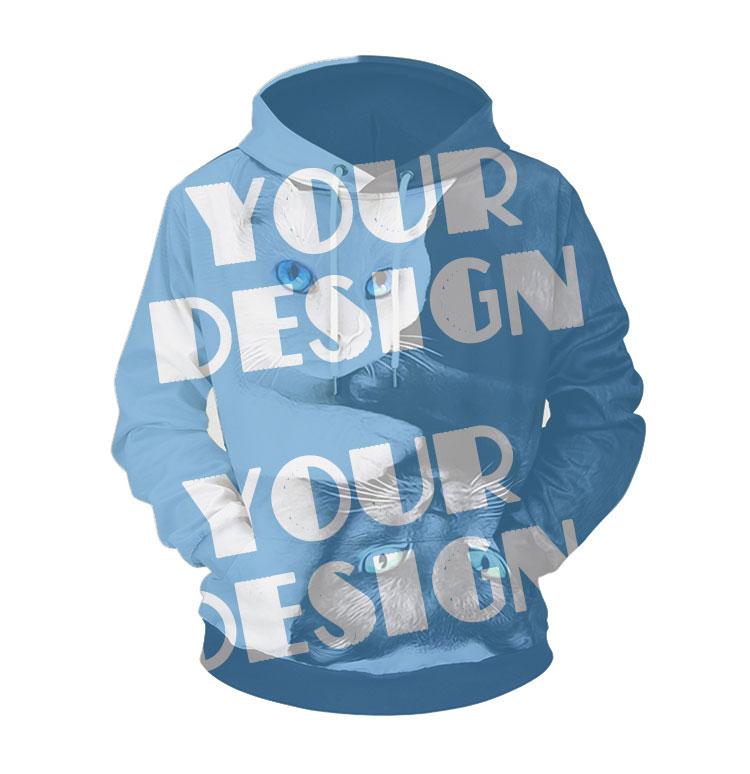 OEM Hoodie Sweatshirt 100% Polyester Long Sleeve Printed Oversize Pullover Hoodies
