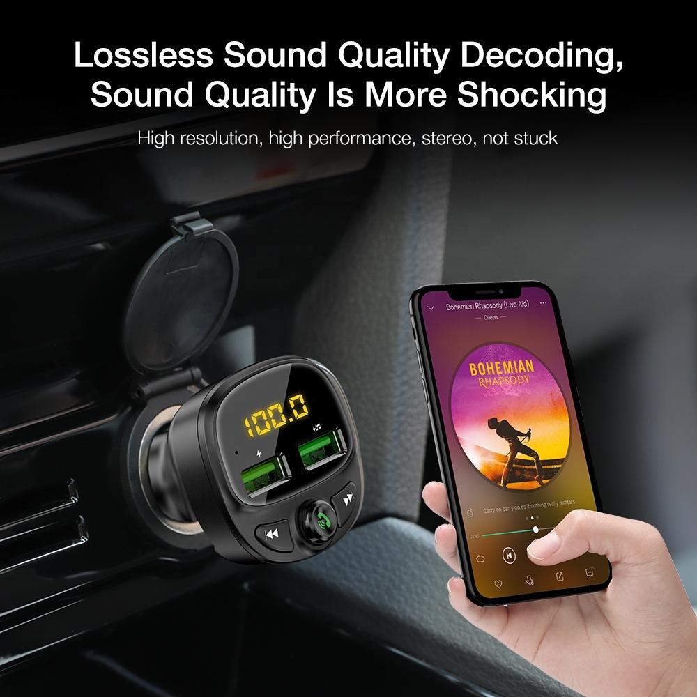 Бесплатная доставка FLOVEME новейший fm-передатчик автомобильный BlueTooth адаптер MP3 музыкальный плеер двойной порт Usb Автомобильное Usb зарядное устройство