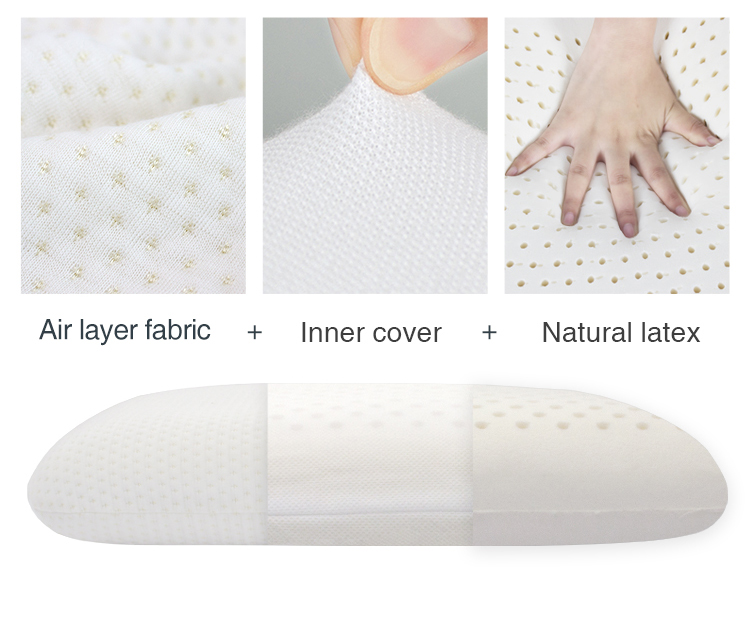 AOKA Ventilated Natural Latex Standard Size Pillows Sleeper Natural Latex Pillow