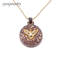 2019 New Arrival Brass Pendant Lucky Peace Bird Shaped with CZ For Women XYP101442
