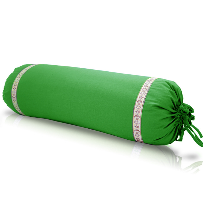 Popular buckwheat inside cotton fabric Yoga bolster cushion pillow