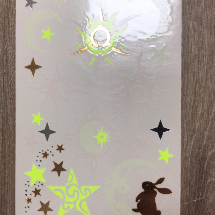 Custom Printed Glow Star Temporary Body Sticker Tattoo