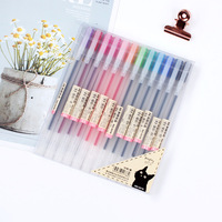 Hot selling artist stationery items 12 color multicolor glitter gel pen color gel pen set
