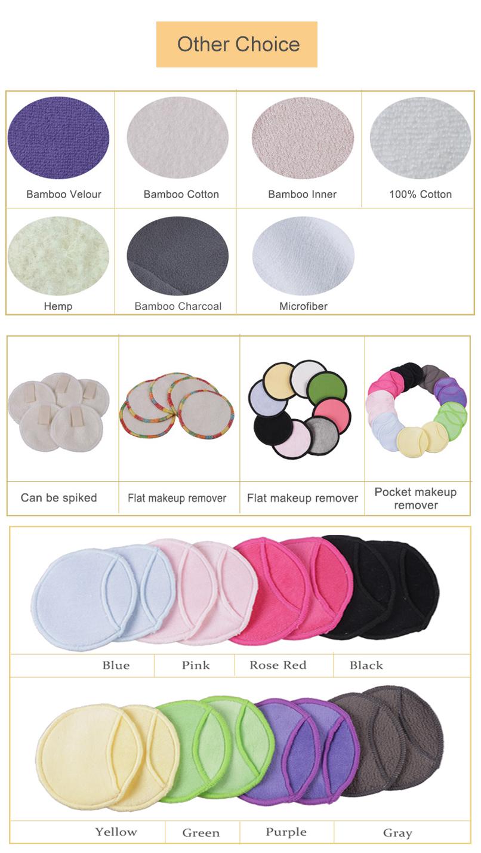 2019 Tre Tái Sử Dụng Trang Điểm Remover Pads cho khuôn mặt-Tái Sử Dụng Pads Facial Mặt Làm Sạch Toner Pads với Giặt Túi