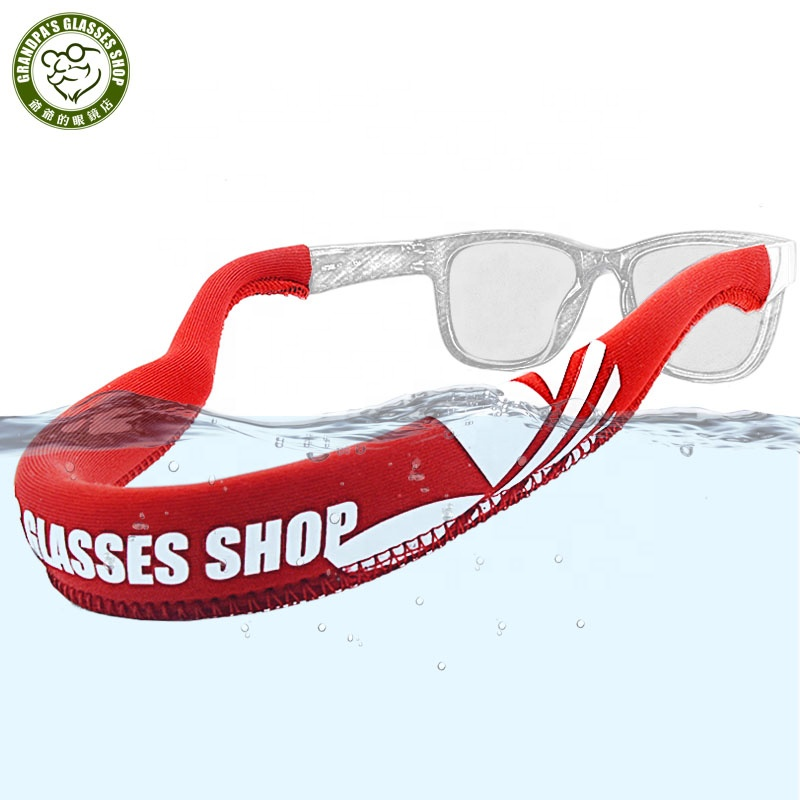 2020 Hot selling Fashion adjustable neoprene glasses neck strap Diving material swimming Water sports floating sunglasses strap