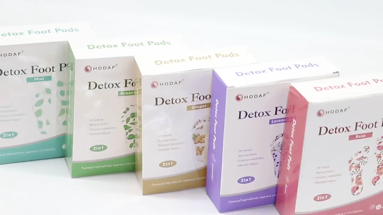 Promote sleeping relive fatigue detox foot patch Bamboo Vinegar