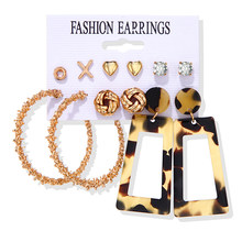 Объемные серьги-кольца 2020, новые модные серьги для женщин, винтажные акриловые серьги с кисточками, богемные украшения Brincos(Китай)