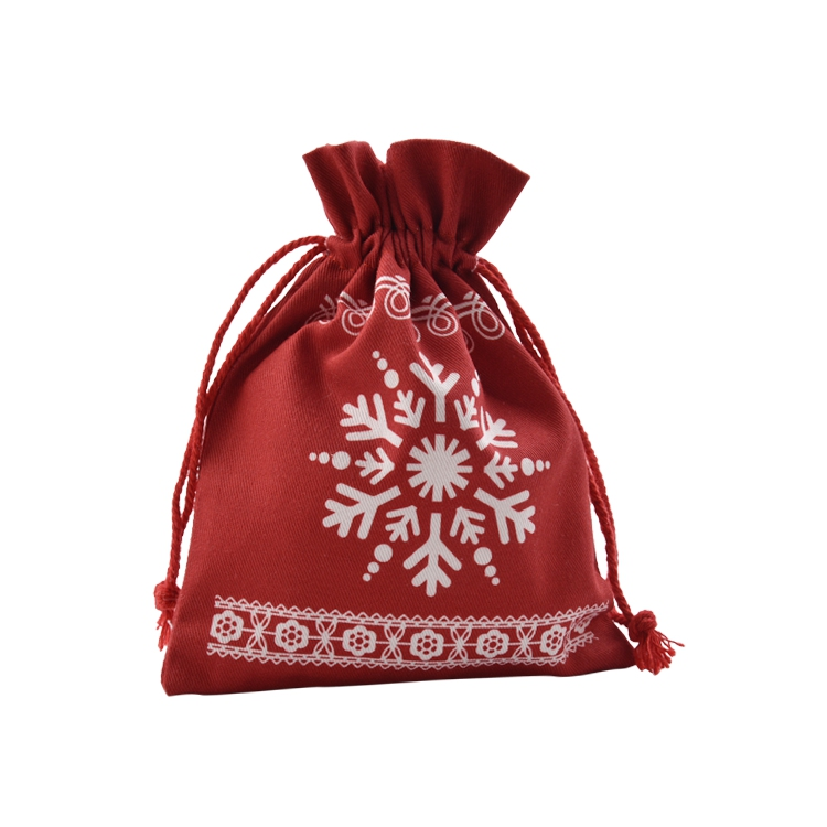 Popular Printing Gift Pouch Cotton String Jewelry Drawstring Bag