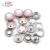 Custom color pink pearl cap prong stud button for coat