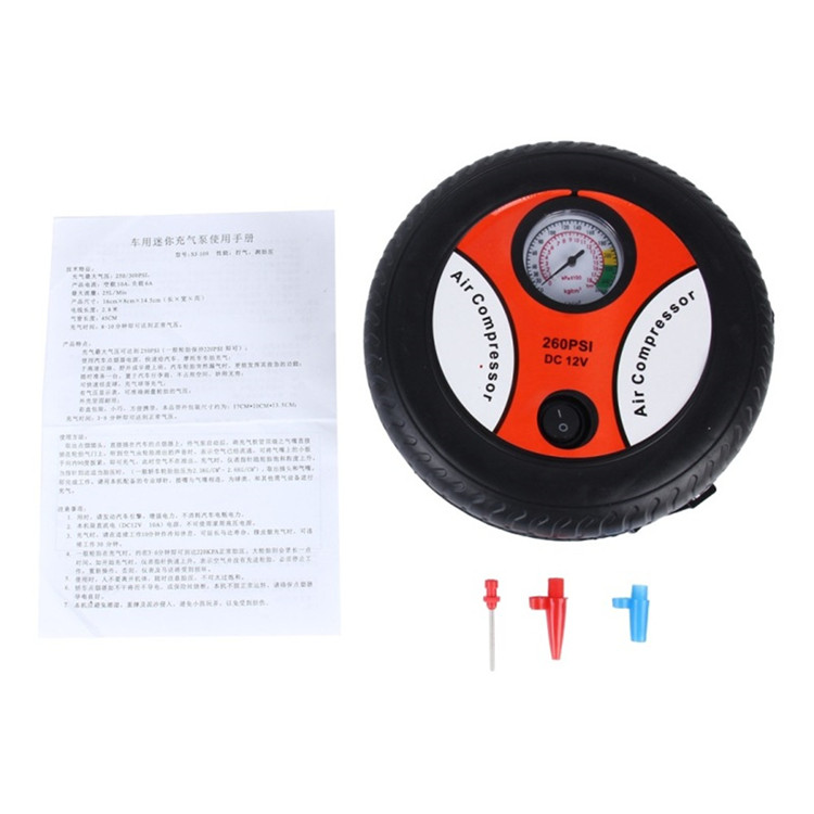 Heavy duty 12V tires inflator portable household emergency car tire air compressor inflator pump for sale