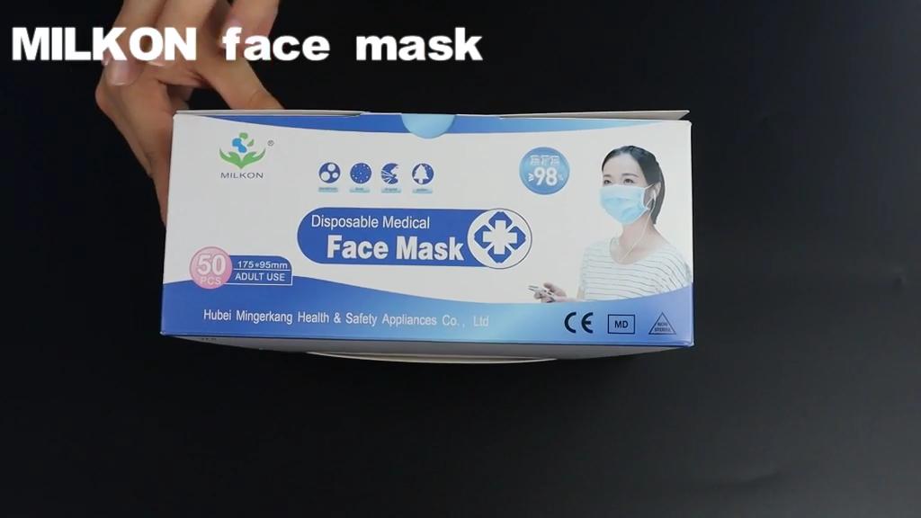 Non Tissé jetable 3ply Masque Chirurgical Avec boucle D'oreille