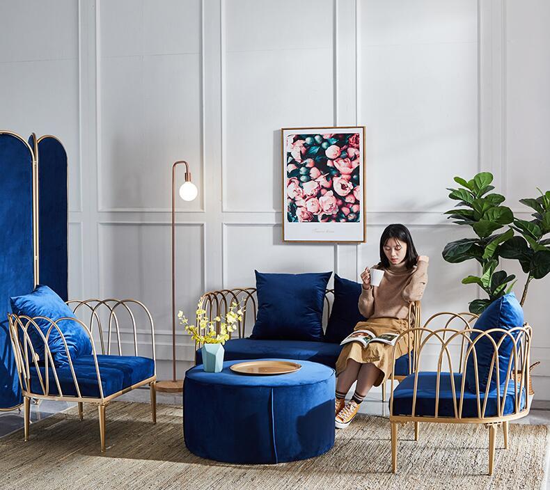 Modern tasarım oturma odası mobilya kadife kesit otel köşe modüler kanepeler seti