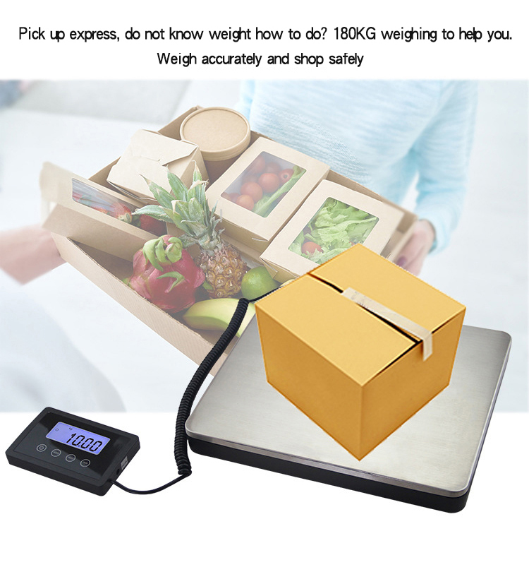 Smart Stainless Steel Parcel Weighing Scale Food 180kg Body Weight