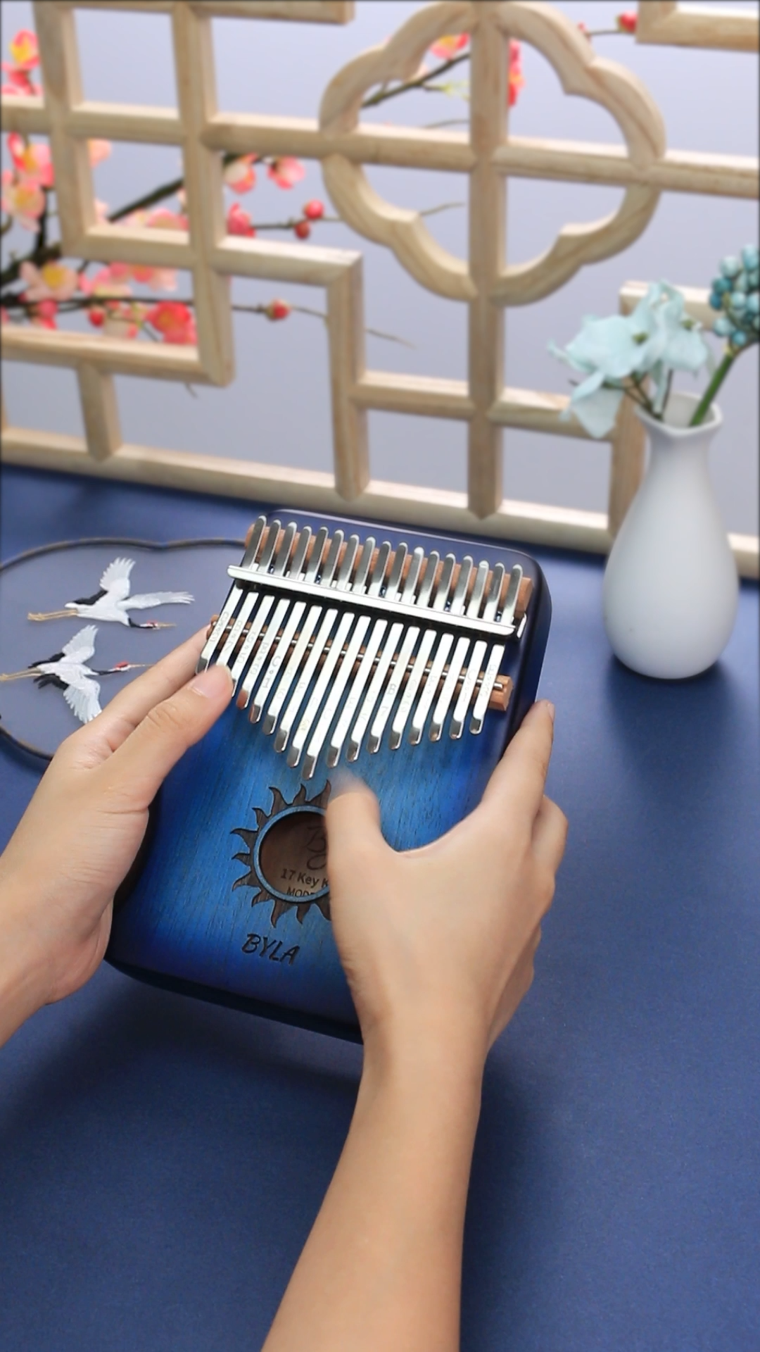 Percussion african 17 keys kalimba musical instrument thumb piano gradient color