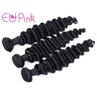 EU Pink hair natural black color deep wave texture wholesale bundles virgin brazilian human hair bundles vendors in stocks