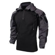 Тактическая рубашка BACRAFT SP2 версии, армейская одежда-углеродный серый XXL(Китай)