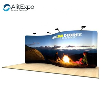 portable folding backdrop tension fabric display for trade show booth