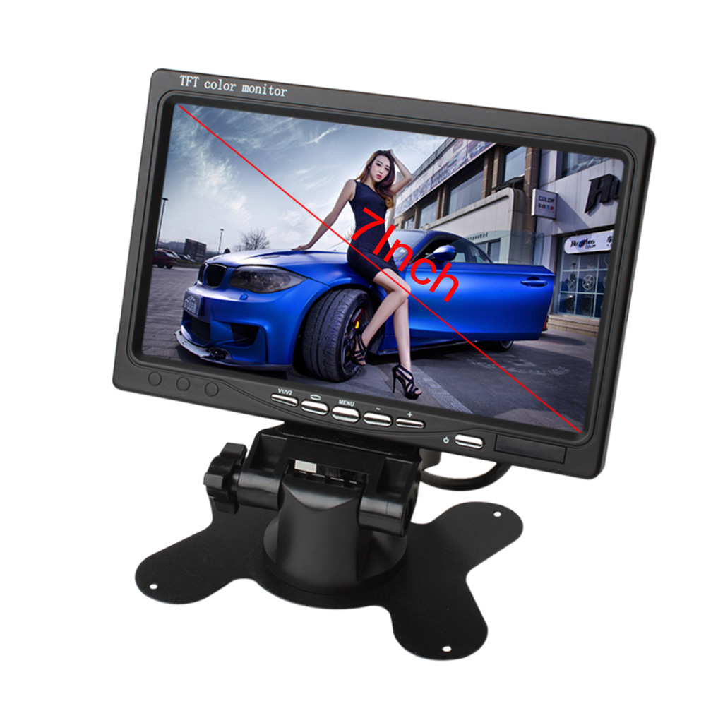 2CH 7 polegadas TFT LCD a Cores de Tela HD Car Rear View Camera Monitor