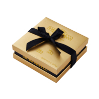 Wholesale Fancy Luxury Bespoke Wedding Candy Packing Custom New Gift Paper Box Chocolate Package With Ribbon Closure