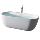 Five Stars Hotel Standard Oval Shaped Acrylic Resin Marble Bath Tub Solid Surface Artificial Stone Bathroom Bathtub