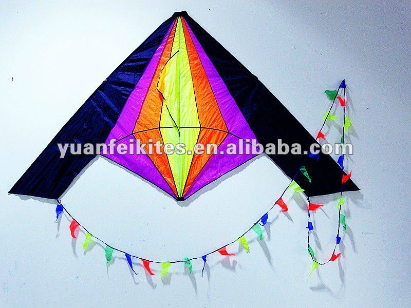Large  Rainbow Delta Kite from Chinese kite factory