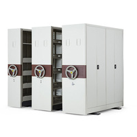Jeanter Office High Density Steel Bulk Filing Cabinet, Bulk Filers Movable Storage System for Archives