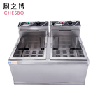 20L+20L Commerical Double Cylinder French Fries Machine Donut Electric Deep Fryer