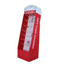 Retail <span class=keywords><strong>Pos</strong></span> kartonnen vloer display stand Gift Cards Houder Display