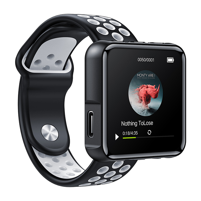 2.5D Glass TPU Sports Watch Rubber Band <strong>Bluetooth</strong> 4.1 <strong>MP3</strong> <strong>Player</strong> With Clip