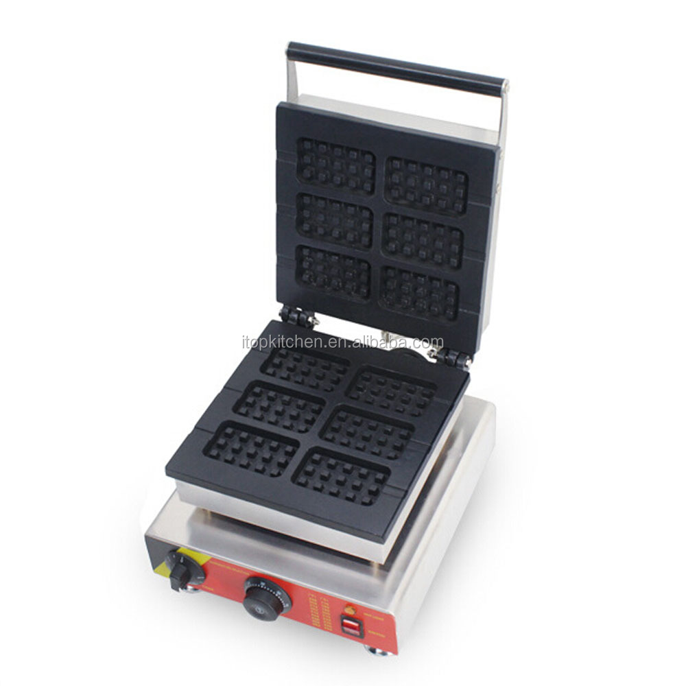 commercial industrial rectangle waffle maker/waffle machine
