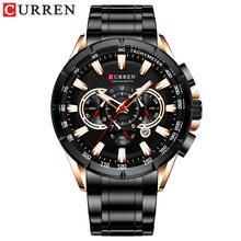 CURREN Топ люксовый бренд мужские часы кварцевые наручные часы спортивные часы с хронографом мужские часы с ремешком из нержавеющей стали мод...(Китай)