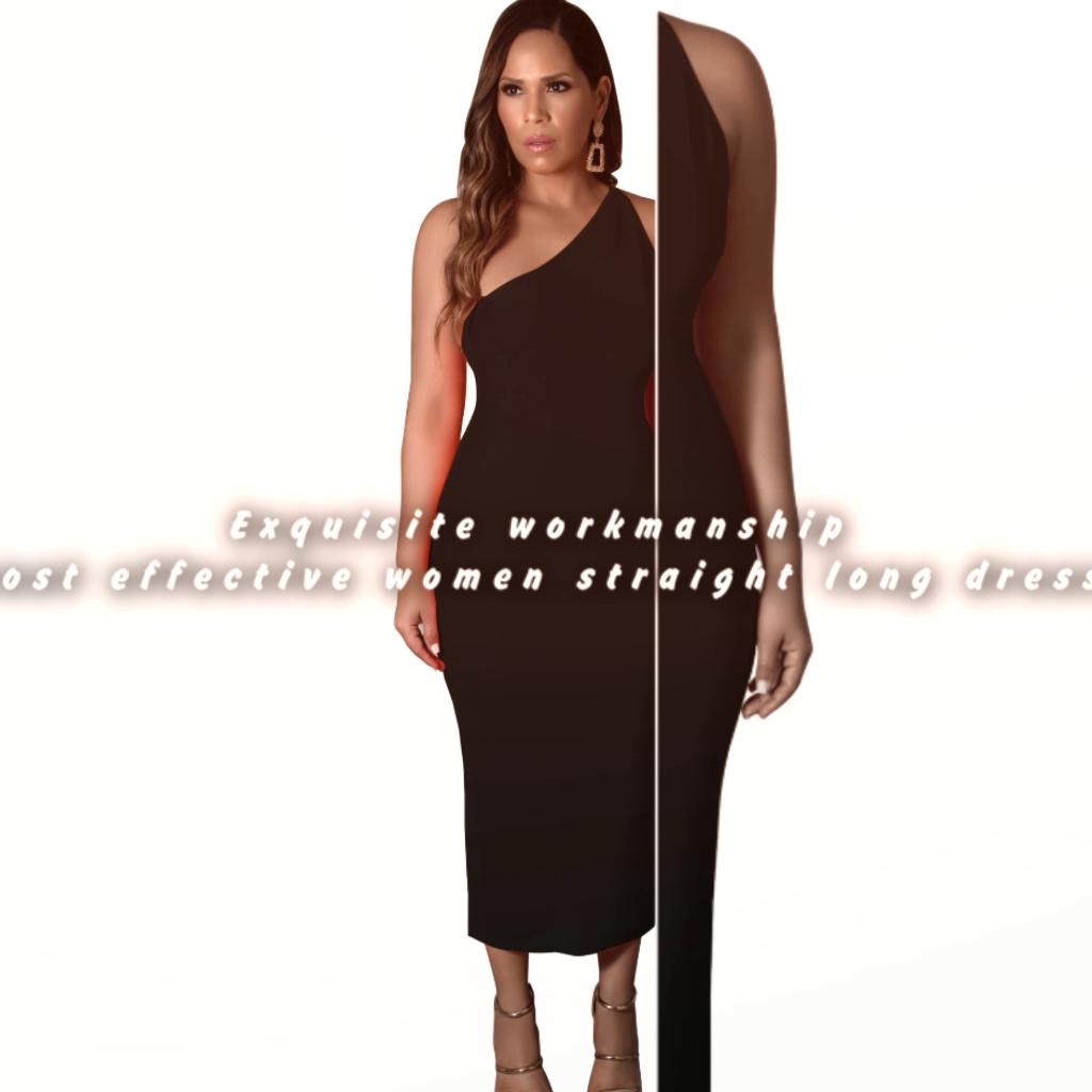 Exquisite verarbeitung kosten effektive frauen gerade lange kleid
