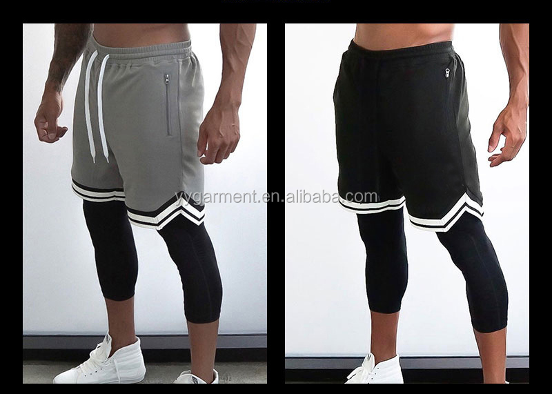 Men Sports Wears Breathable Gym Shorts Running