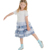 short sleeve cotton tshirt dress ruffle skirt girls summer dress