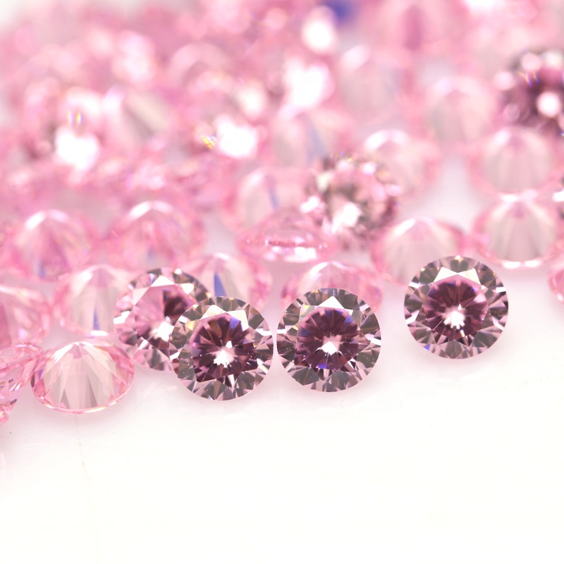 Top Quality 5A Grade Round brilliant cut pink cubic <strong>zirconia</strong> wholesale