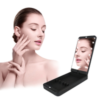 Stainless Steel Make Up Light Led Portable Touch Screen Makeup Mirror with Led