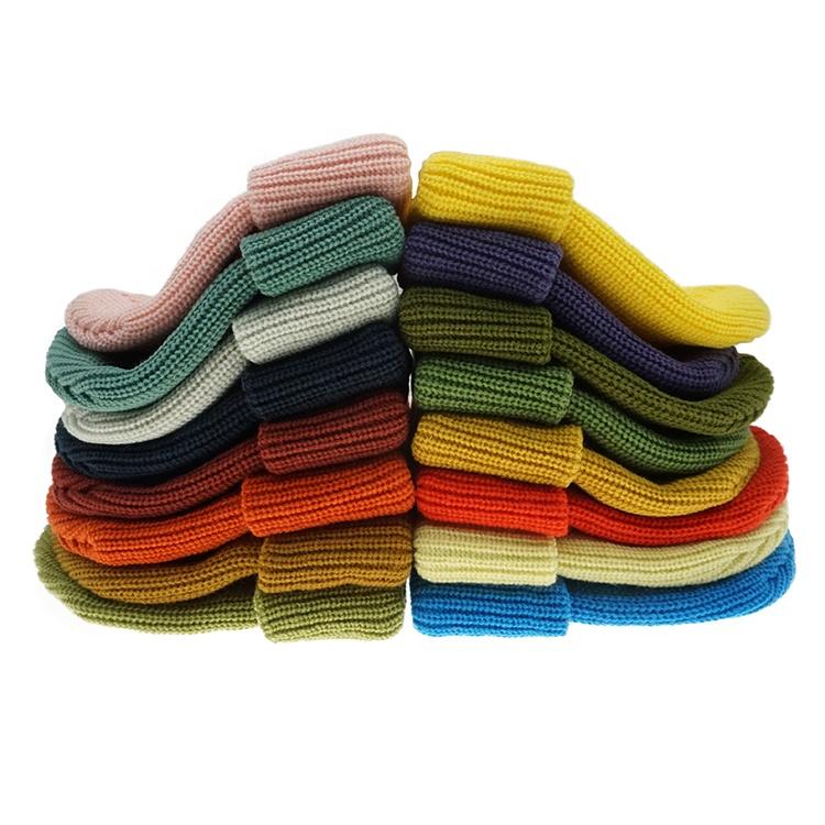 حار بيع الأزياء للجنسين النساء الرجال التريكو قبعة مخصص الشتاء الدافئة قبعة تزلج بلون قبعة صغيرة مع 16 الألوان