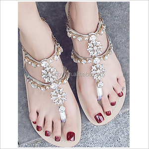 good price Italian fashion ladies summer shoes flat sandals women