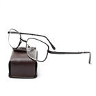 Metal frame men folding reading glasses with case
